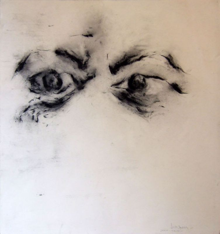 Yeux (Fusain) - Jean-Jacques  DOURNON