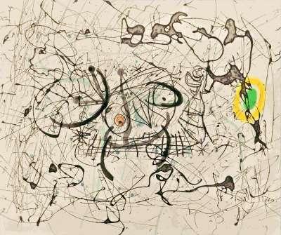 Fissures planche 14 (Aquatint) - Joan  MIRO