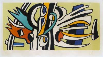 Composition Murale (Lithographie) - Fernand LEGER