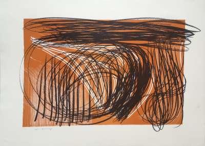 L 1971-1 (Farblithographie) - Hans HARTUNG