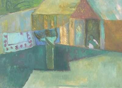 Tirrukulam Street (Huile sur papier) - Véronique NEROU
