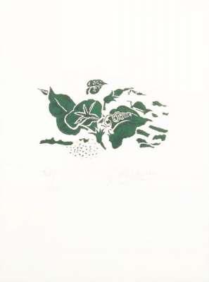 Le liseron vert : Lettera Amorosa (Lithographie) - Georges BRAQUE