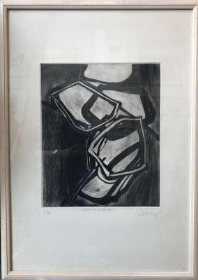 Atome intérieur (Etching and aquatint) - Bertrand DORNY