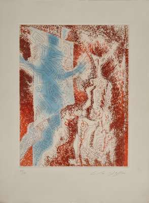The Lady of the Labyrinth (Etching and aquatint) - André  MASSON