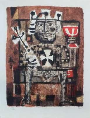 Le roi boit (Lithographie) - Antoni CLAVE