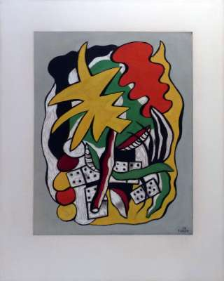 Composition aux dominos (Pochoir) - Fernand LEGER