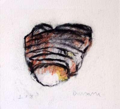 Masque (Fusain) - Jean-Jacques  DOURNON
