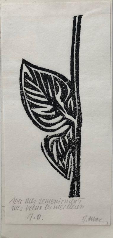 (Carte de voeux) - Raoul UBAC