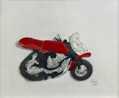 Moto compressée (Skulptur) -  CÉSAR (BALDACCINI)
