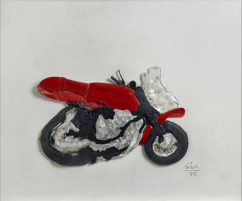 Moto compressée (Sculpture) - César BALDACCINI