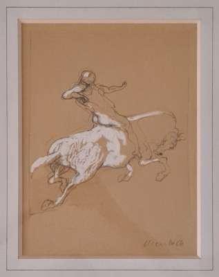 Homme à cheval (Dessin) - Claude WEISBUCH
