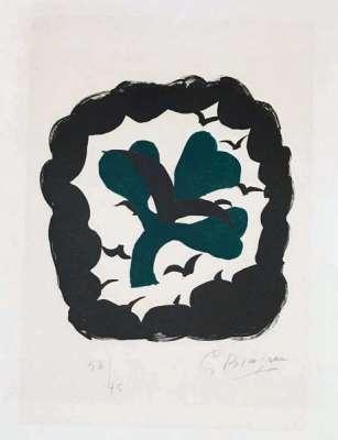 Lettera Amorosa : Le Trèfle (Lithographie) - Georges BRAQUE