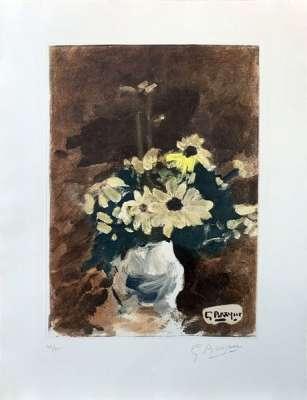 Vase de fleurs jaunes (Eau-forte) - Georges BRAQUE