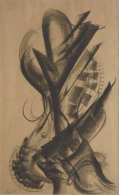 Sans titre (Fusain) - Jean-Gabriel CHAUVIN