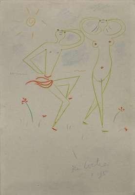 Danseurs (Dessin) - Jean COCTEAU