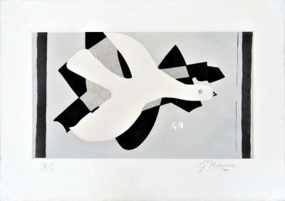 L'oiseau et son ombre III (Eau-forte) - Georges BRAQUE