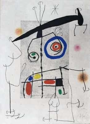 L'Homme au balancier (Etching and aquatint) - Joan  MIRO