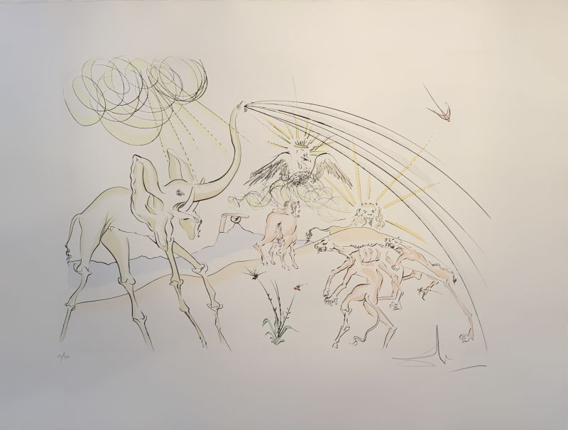 The bestiary of La Fontaine dalinised (Illustrated Book) - Salvador DALI