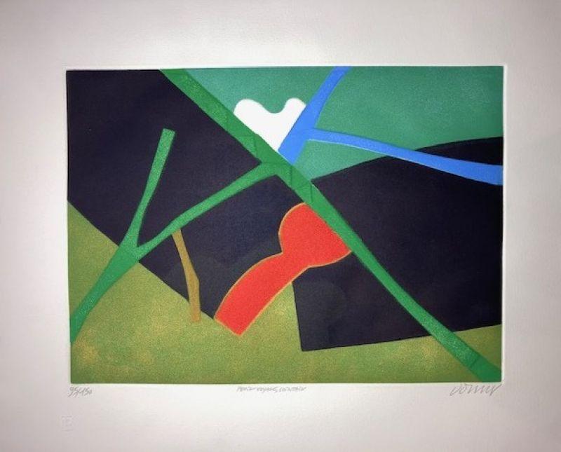 Petit voyage, lointain (Aquatinte) - Bertrand DORNY