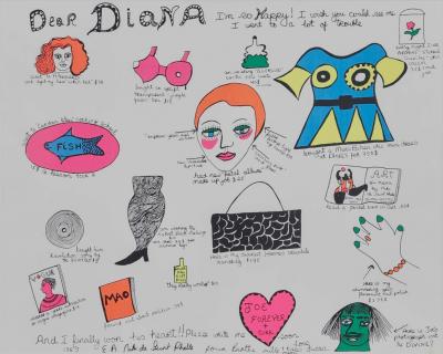 Dear Diana I'm so happy (Siebdruck) - Niki DE SAINT PHALLE