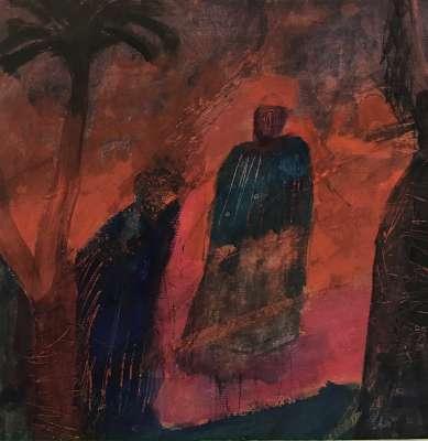 Crépuscule (Huile sur papier (contemporain)) -  MAUPUR