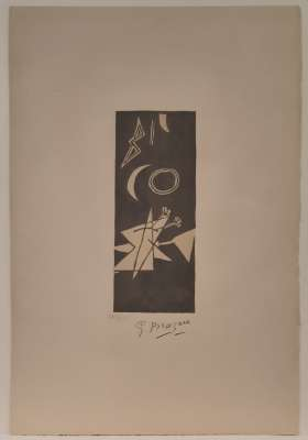 Grey Sky II (Lithograph) - Georges BRAQUE