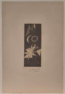 """""""Ciel Gris II"""" (Lithographie) - Georges BRAQUE"""