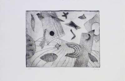 Composition (Eau-forte) - Henri GOETZ