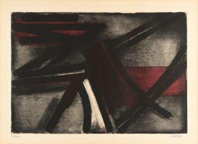Eau-forte II (Radierung und Aquatinta) - Pierre  SOULAGES