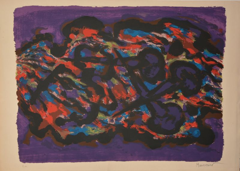 Sans titre (Lithographie) - Alfred  MANESSIER