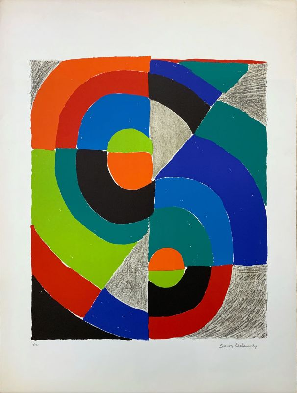 Composition orphique (Lithographie) - Sonia DELAUNAY-TERK