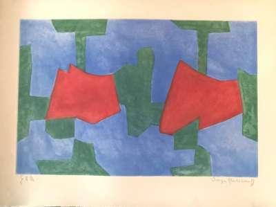Composition Bleue, Verte et Rouge n° XXXIV (Gravure) - Serge  POLIAKOFF