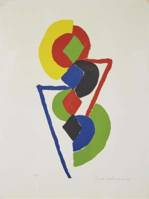 Composition (Lithograph) - Sonia DELAUNAY-TERK