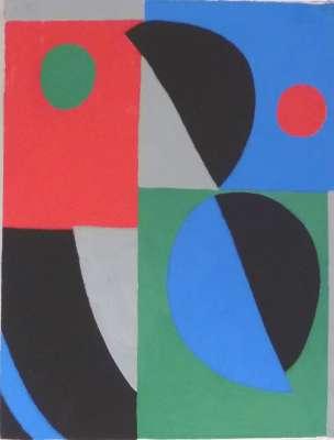 Poésie des mots poésie des couleurs (Pochoir) - Sonia DELAUNAY-TERK