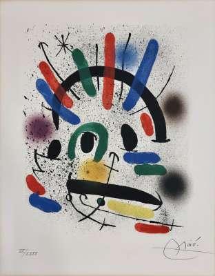 Miro Lithographe I planche 4 (Lithographie) - Joan  MIRO