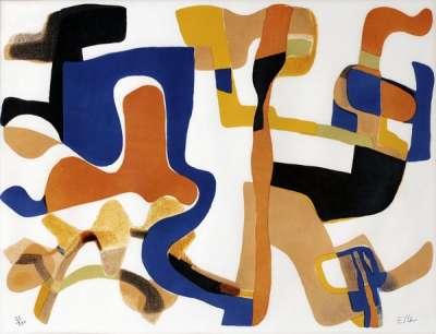 L'accueil (Lithographie) - Maurice ESTEVE