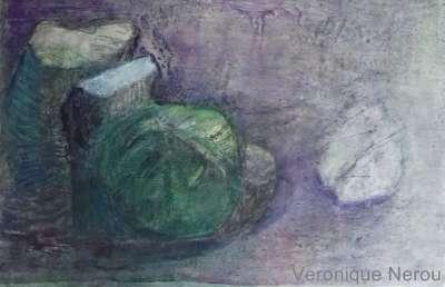 Le chou minéral (Huile sur toile) - Véronique NEROU