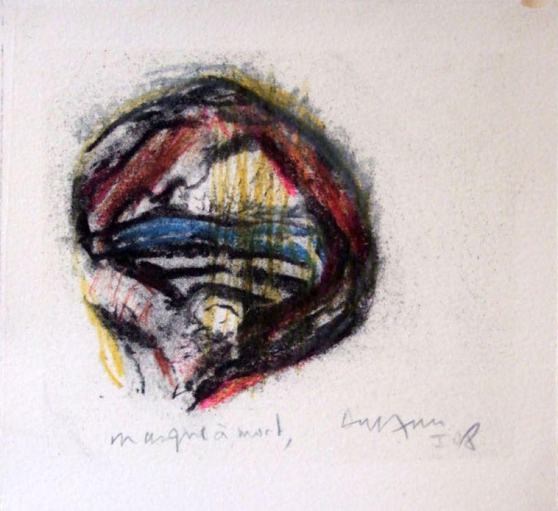 Masque à mort (Fusain) - Jean-Jacques  DOURNON