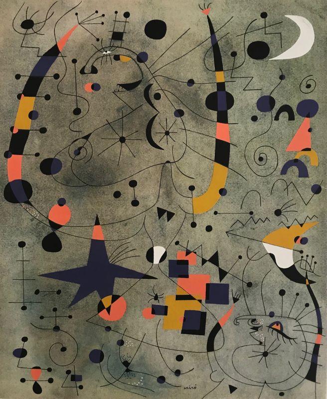 Constellations, Danseuses Acrobates (Pochoir) - Joan  MIRO