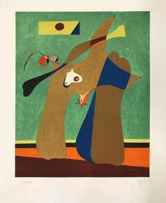 One Woman (Lithograph) - Joan  MIRO