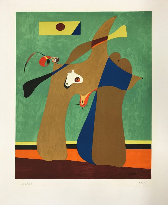 Une femme (Lithographie) - Joan  MIRO