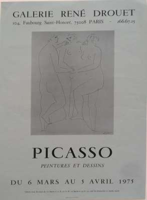 GALERIE RENE DROUET (Poster) - Pablo  PICASSO