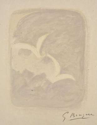Descent into hell (Lithograph) - Georges BRAQUE