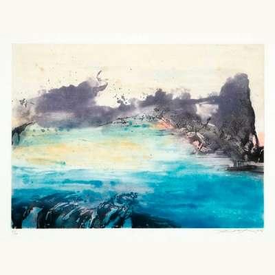 Sans titre (Eau-forte et aquatinte) - Wou-ki  ZAO