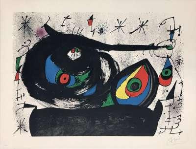 Homenatge A Joan Prats (Lithographie) - Joan  MIRO