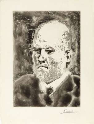 """Portrait de Vollard I"" (Aquatinte) - Pablo  PICASSO"