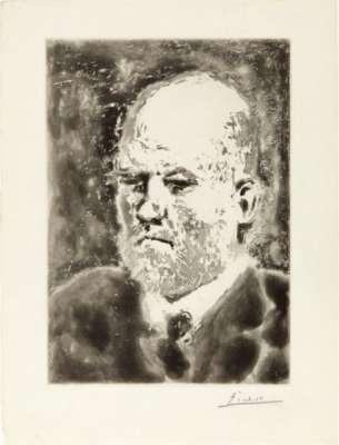 """""""Portrait de Vollard I"""" (Aquatinta) - Pablo  PICASSO"""