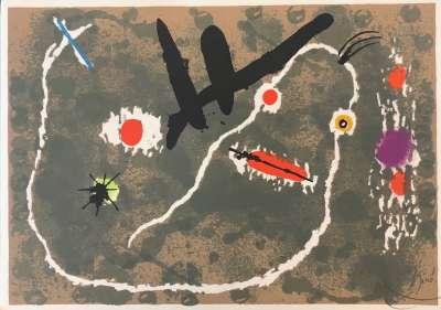 Le Lézard aux plumes d'or (Lithograph) - Joan  MIRO