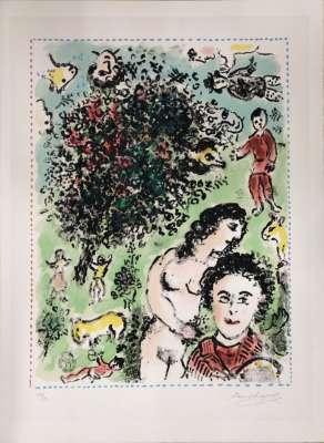 Dans le jardin (Lithograph) - Marc CHAGALL
