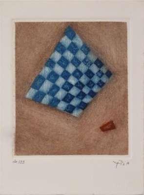 """Damier Bleu"" (Gravure) - Arthur Luiz  PIZA"
